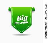 big discount green vector icon... | Shutterstock .eps vector #260392460
