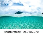 mountain over the sea view... | Shutterstock . vector #260402270