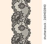 lace seamless pattern black... | Shutterstock .eps vector #260402840