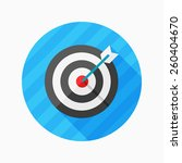 target flat icon with long... | Shutterstock .eps vector #260404670