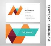 modern letter n business card... | Shutterstock .eps vector #260413658