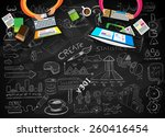 infographic design template... | Shutterstock .eps vector #260416454