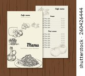 restaurant or cafe menu vector... | Shutterstock .eps vector #260426444