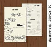 restaurant or cafe menu vector... | Shutterstock .eps vector #260426450