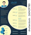 cool new modern cv resume... | Shutterstock .eps vector #260429780