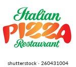 italian pizza restaurant hand... | Shutterstock .eps vector #260431004
