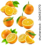 set of oranges isolated on the... | Shutterstock . vector #260431970