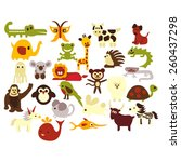 alphabet abc animals vector. | Shutterstock .eps vector #260437298