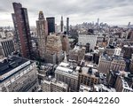 high top view of city buildings ... | Shutterstock . vector #260442260