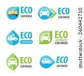 vector set of eco car wash... | Shutterstock .eps vector #260442710
