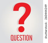 question logo flat with ... | Shutterstock .eps vector #260444249