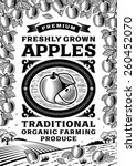 Retro Apples Poster Black And...