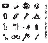 survival kit icons | Shutterstock .eps vector #260454968