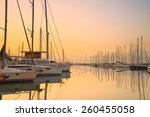 sunset in alimos marina in...