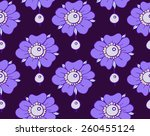 seamless pattern with pearls... | Shutterstock .eps vector #260455124