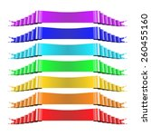 set of multicolored ribbons.... | Shutterstock .eps vector #260455160