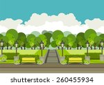 illustration of urban parks and ... | Shutterstock .eps vector #260455934