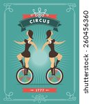 Circus Poster With A Circus...