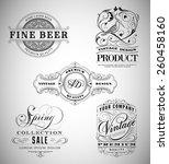 vintage logos collection | Shutterstock .eps vector #260458160