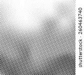 grunge halftone dots vector... | Shutterstock .eps vector #260463740