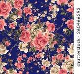 seamless pattern of vintage ... | Shutterstock . vector #260466293