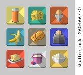 breakfast icons 2 | Shutterstock .eps vector #260466770