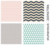 cute patterns collection.... | Shutterstock .eps vector #260467586