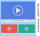 modern flat video player... | Shutterstock .eps vector #260471798