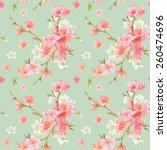 spring blossom flowers... | Shutterstock .eps vector #260474696