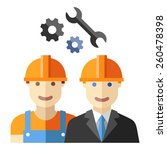 construction worker flat avatar ... | Shutterstock .eps vector #260478398