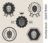 hop craft beer sign symbol... | Shutterstock .eps vector #260478404