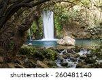 Banias Waterfall Stream On...