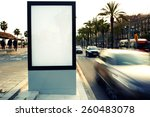 blank billboard outdoors ... | Shutterstock . vector #260483078