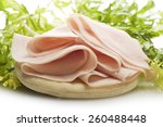 Turkey Meat Slices With Salad...