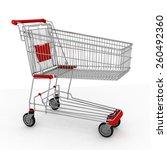 3d shopping cart | Shutterstock . vector #260492360