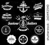 set of vintage retro nautical... | Shutterstock .eps vector #260492540
