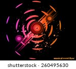 disco club flayer with colorful ... | Shutterstock .eps vector #260495630