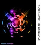 disco club flayer with colorful ... | Shutterstock .eps vector #260495648