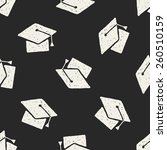 doodle hat seamless pattern... | Shutterstock .eps vector #260510159