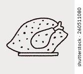 doodle turkey meal   Shutterstock .eps vector #260511080