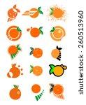 creative design of orange... | Shutterstock .eps vector #260513960