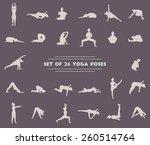 set of twenty six yoga poses.... | Shutterstock .eps vector #260514764