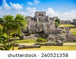 Mayan Ruins Besides Caribbean...
