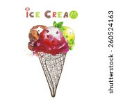 ice cream | Shutterstock .eps vector #260524163