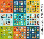 set of medicine icons | Shutterstock . vector #260524799
