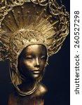 mannequin in golden head wear | Shutterstock . vector #260527298
