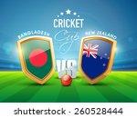 bangladesh vs new zealand... | Shutterstock .eps vector #260528444
