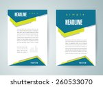 flyer brochure design template... | Shutterstock .eps vector #260533070