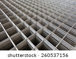 stacked re bar grids at the... | Shutterstock . vector #260537156