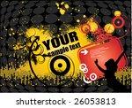 illustration on a dance theme | Shutterstock .eps vector #26053813